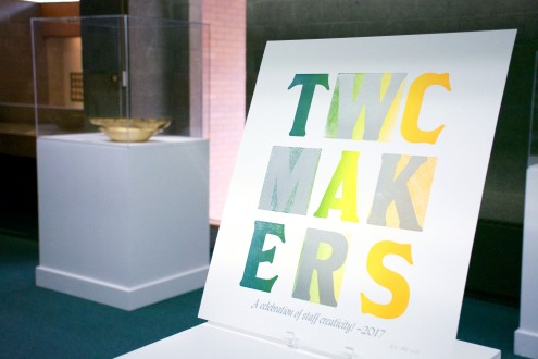 TWC Makers Exhibition sign